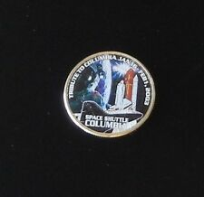 SPACE SHUTTLE COLUMBIA TRIBUTE Colorized Kennedy Half Dollar ~ MADE IN USA