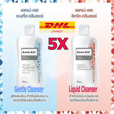 5x100ml Acne Aid Liquid Cleanser Sls Free Formula For Pimples Oily Dry Sensitive