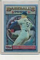1993 Topps Finest #184 Orel Hershiser Los Angeles Dodgers