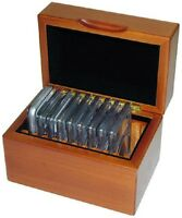 Gift For Coin Collector 10 Slabbed Coins NGC ANACS IGC PCGS Wood Box Safe Travel