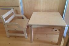Wood CHAIR and TABLE Montessori