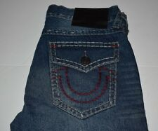 NWT True Religion Ricky Super T Relaxed Straight  Blood Jeans Size 34 $378