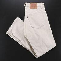 Vintage LEVI'S 501 MADE IN USA Beige Denim Regular Straight Jeans Mens W31 L28