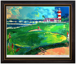 LeRoy NEIMAN Serigraph Rare Original Signed Golf Artwork 18th at Harbour Town