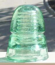 Lime Green HG CO CD 145 Glass Insulator - Excellent Condition