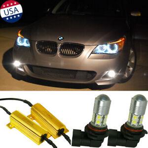 Error Free White 9006 LED Fog Light For BMW E60 525i 530i 545i 550i M3 M5 760Li