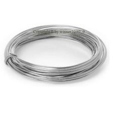 2mm Ø 12m Length Round Wire Aluminium Craft DIY Florist Decor 12 Gauge SILVER