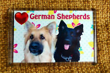German Shepherd/Alsatian Dog Gift Dog Fridge Magnet 77x51mm Little Birthday Gift