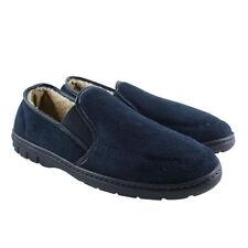 Pantofole da uomo in camoscio blu