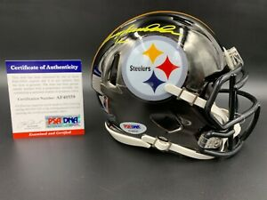 Terry Bradshaw Signed NFL Steelers Chrome Mini Helmet PSA/DNA AF40559 BECKETT