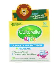 Kids Complete Multivitamin/ Probiotic/Natural Fruit Punch Flavor, 50 Chewable