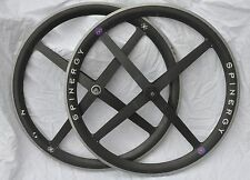 "Spinergy Rev X 25"" carbon wheels - front and rear"