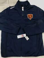 Chicago Bears NFL Team Apparel Mens Full Zipper Jacket NWT Authentic Size Large