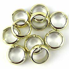 50 pieces/lot gold tone plastic pendant scarf jewelry rings jewellery accessory