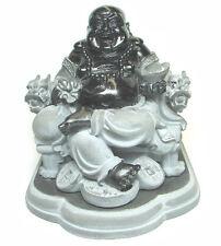 Sitting Black Buddha on Dragon Chair