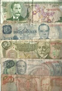 Costa Rica ✨ 5 Banknotes ✨ Collections #96874