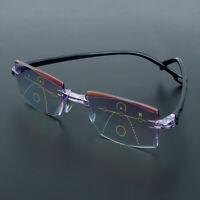 Progressive Multifocal Reading Glasses Diamond-cut Presbyopia Eyeglasses