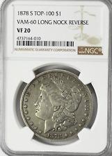 1878 S $1 Morgan Silver One Dollar Rare San Francisco VF20 VAM 20 Long Nock