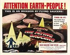 EARTH VS. THE FLYING SAUCERS Movie POSTER 22x28 Half Sheet Hugh Marlowe Joan