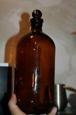 Antique, 12 1/2'' Amber, Chemical/Med Bottle,Original Stopper, Item # A - 2779