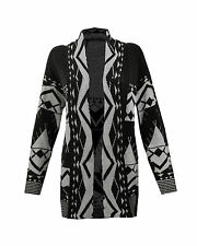 NEW WOMENS KNITTED LONG CARDIGAN BOYFRIEND JUMPERS  LADIES TOP WATERFALL WRAP