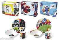 Childrens Marvel Avengers Ceramic 3 Piece Dinner Breakfast Set Plate Bowl Mug