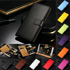 Genuine Leather Wallet Card Holder Pouch Case Cover For Samsung Galaxy Model