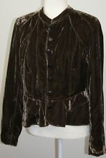 Jacqueline Riu Brown Velvet Evening Bolero Jacket EUR 42 US 14 Formal Mandarin