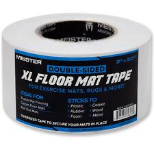 MEISTER DOUBLE-SIDED XL FLOOR MAT TAPE - Gym Mats Rugs Carpet Seam Slip Grip
