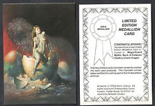 COMIC IMAGES MEDALLION CARD for BORIS VALLEJO SERIES 4 (1994) RARE UNNUMBERED