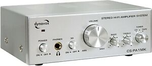 Dynavox CS-PA1 Mini amplificateur HiFi 2 x 50 W Argent (Import