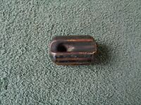 Vintage Ceramic Brown Electrical Strain Insulator U7