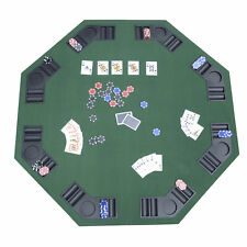 "1.2m / 48"" Folding Poker Table Top 8 Players Blackjack Tables Casino Chip Trays"