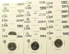 1978 to 2006P Canada 10 Cents Lot of 19 From Sets UNC #5457