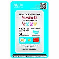 Net 10 Bring Your Own Phone Activation Kit (Il/Pl1-1747-Ntpbyopunsvn a-Nib)