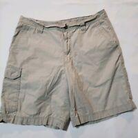 Columbia Men's Size 34 Tan Cargo Shorts Summer Hiking Vacation 100% Cotton