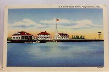 Ohio OH Fairport Harbor US Coast Guard Station Postcard Old Vintage Card View PC