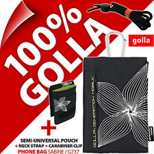 Golla Black Phone Case Pouch Bag for iPhone 4S 5S SE Samsung Galaxy S2, S4 Mini