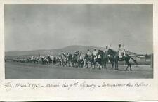 CPA MAROC FEZ VERITABLE CARTE PHOTO 12 AVRIL 1915 ARRIVEE DU Gal LYAUTEY LES CAV