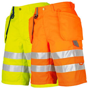 Projob Hi Vis Work Shorts with Holster Pockets. Class 2 - 646503
