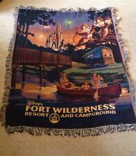 "New Disney's Fort Wilderness Resort And Campground Tapestry Woven Throw. 50""x60"""