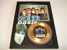 OASIS   SIGNED   GOLD DISC  DISPLAY 1