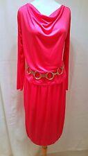 Rare Vintage 1970's Diane von Furstenberg DVF pink Dress set - Union Label sz 10