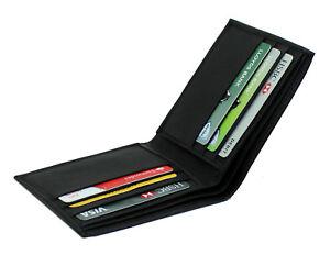 Men's Soft Smooth Genuine Leather Billfold Slim Wallet Credit Card Holder 125