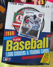 1988 Fleer  Baseball Box  GLAVINE BRAVES Rookie, RIPKEN ORIOLES ,CLEMENS RED SOX