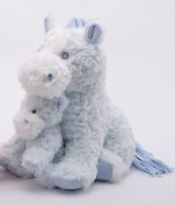 """Blue Horse with Baby Plush 13"""""""