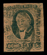 MEXICO 1861 HIDALGO  8r blk, red brown - GUANAJUATO - dist ovp. Sc# 11 used VF