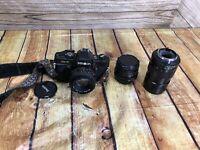 MINOLTA X-7 BLACK 35mm SLR Film Camera Multiple Lens