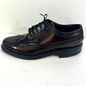 Florsheim Kenmoor Wingtip Oxford Dress Shoes Dark Burgundy Leather Mens Size 7 D