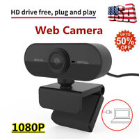 USB HD Camera Webcam PC 1080P Web Cam w/ Microphone For Desktop Laptop Computer~
